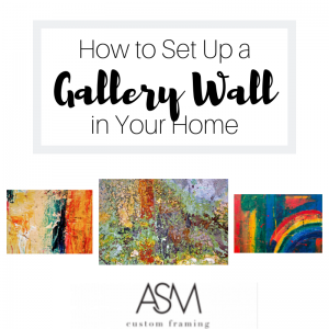 how to set up a gallery wall in your home
